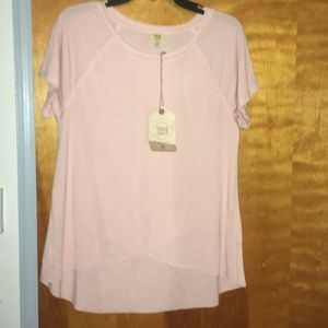 NWT soft pink top
